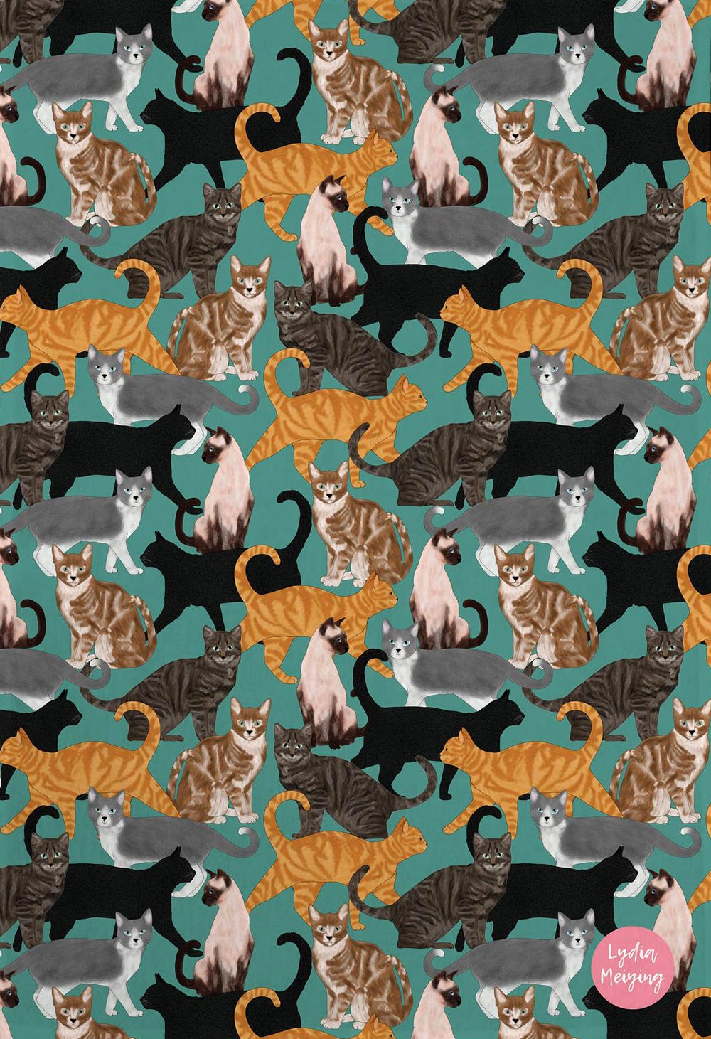 Image of Cat Tea Towel