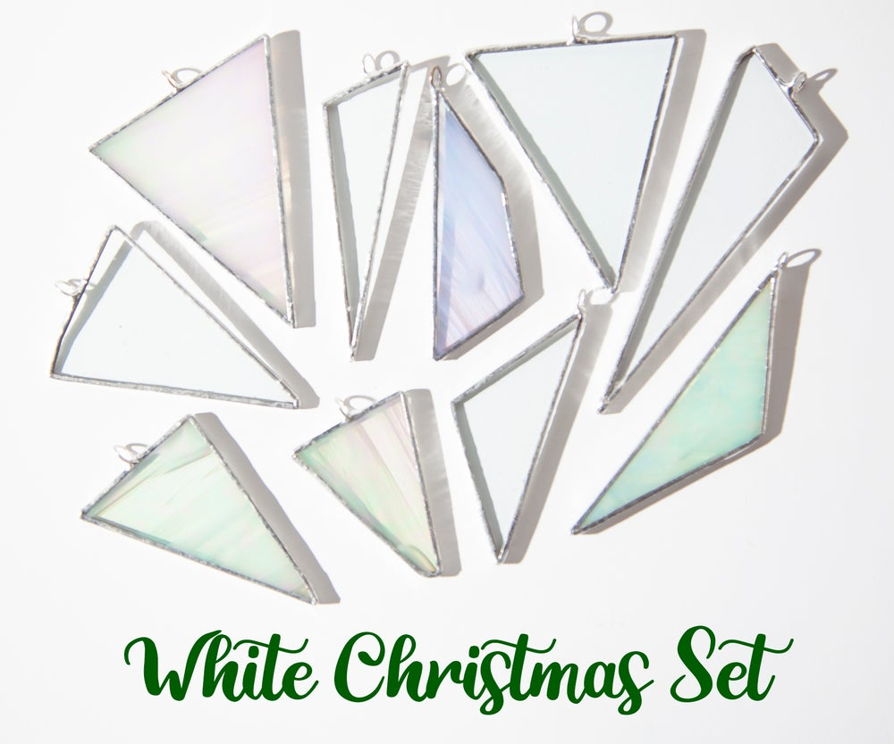 Image of Stained Glass Ornament Set of 10