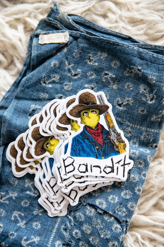 Image of Bandit Die Cut Sticker