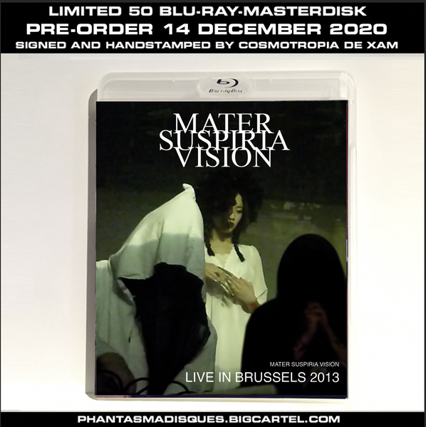 Image of MATER SUSPIRIA VISION - LIVE IN BRUSSELS 2013 - LIMITED 50 SIGNED/STAMPED BLU-RAY-R