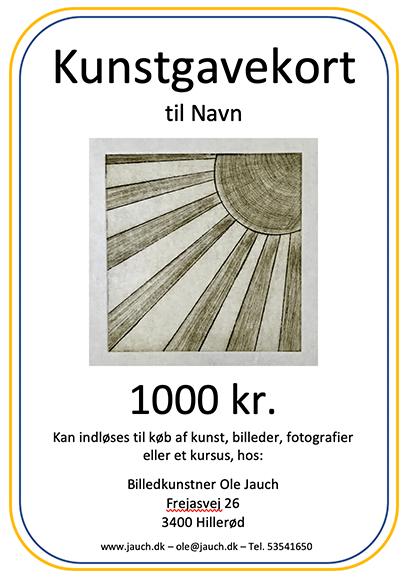 Image of Kunstgavekort