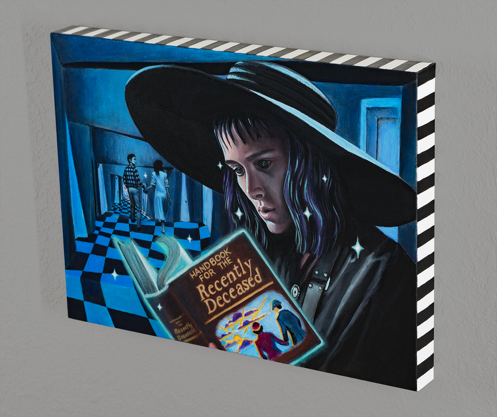 Image of 'Beetlejuice' stretched canvas print