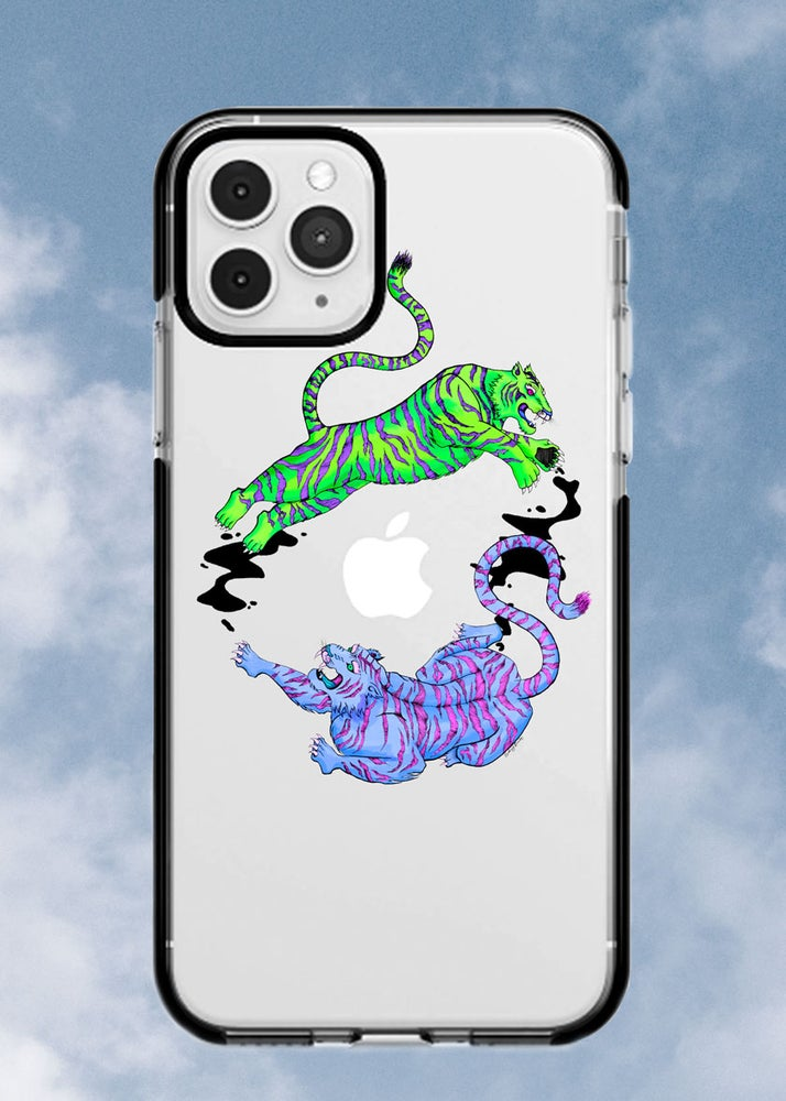 Image of Neon Duo Tigers Phone Case