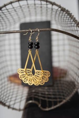 Image of Brass RBG Collar Earrings #1