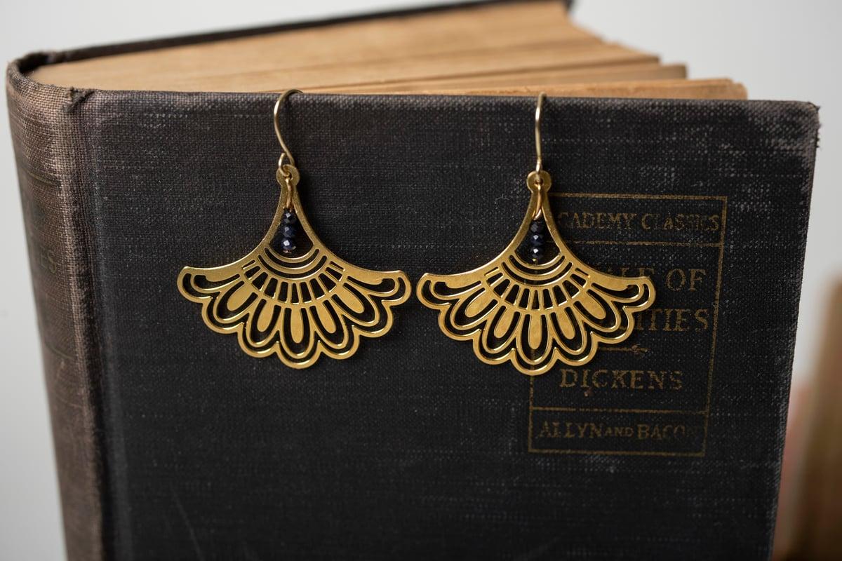 Image of Brass RBG Fancy Collar Earrings