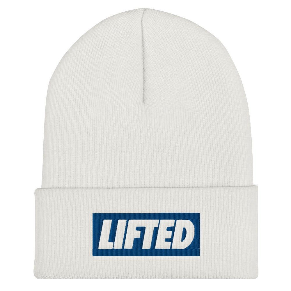 Image of Blue Embroidered Beanie