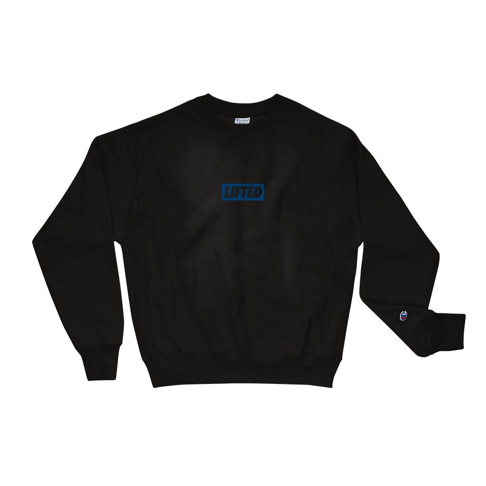 Image of Blue Embroidered Champion Crewneck