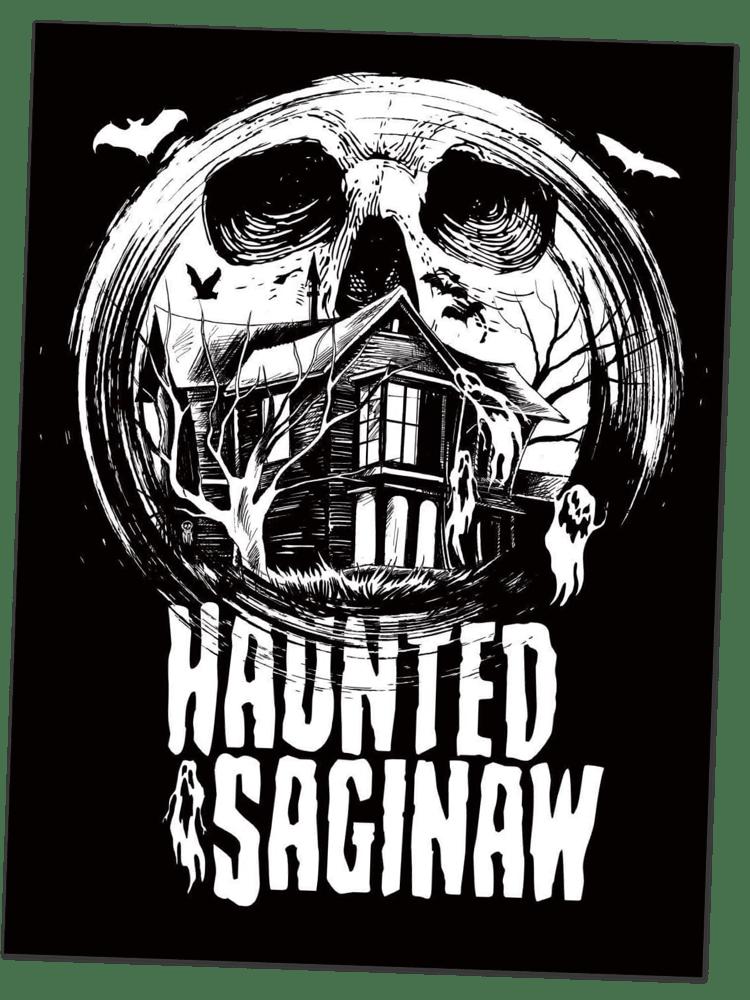 Image of Haunted Saginaw Sticker (4x5.25)