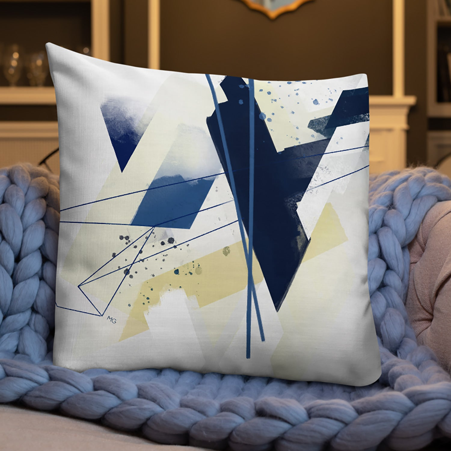 Image of Blue Shift Square Pillow