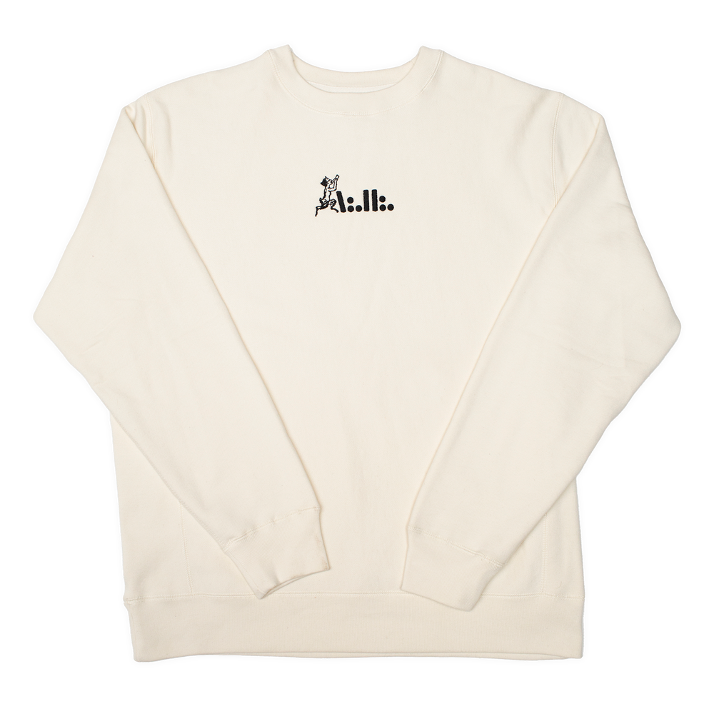 Image of A∴H∴ Faun embroidered bone crew
