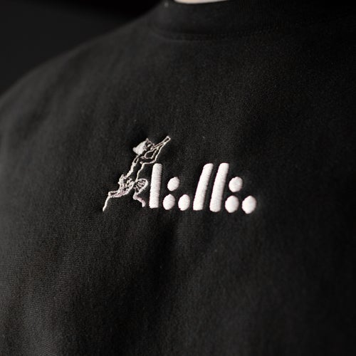 Image of A∴H∴ Faun embroidered black crew