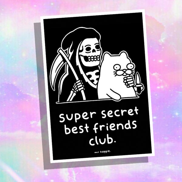 Image of The super secret best friends club A5 print