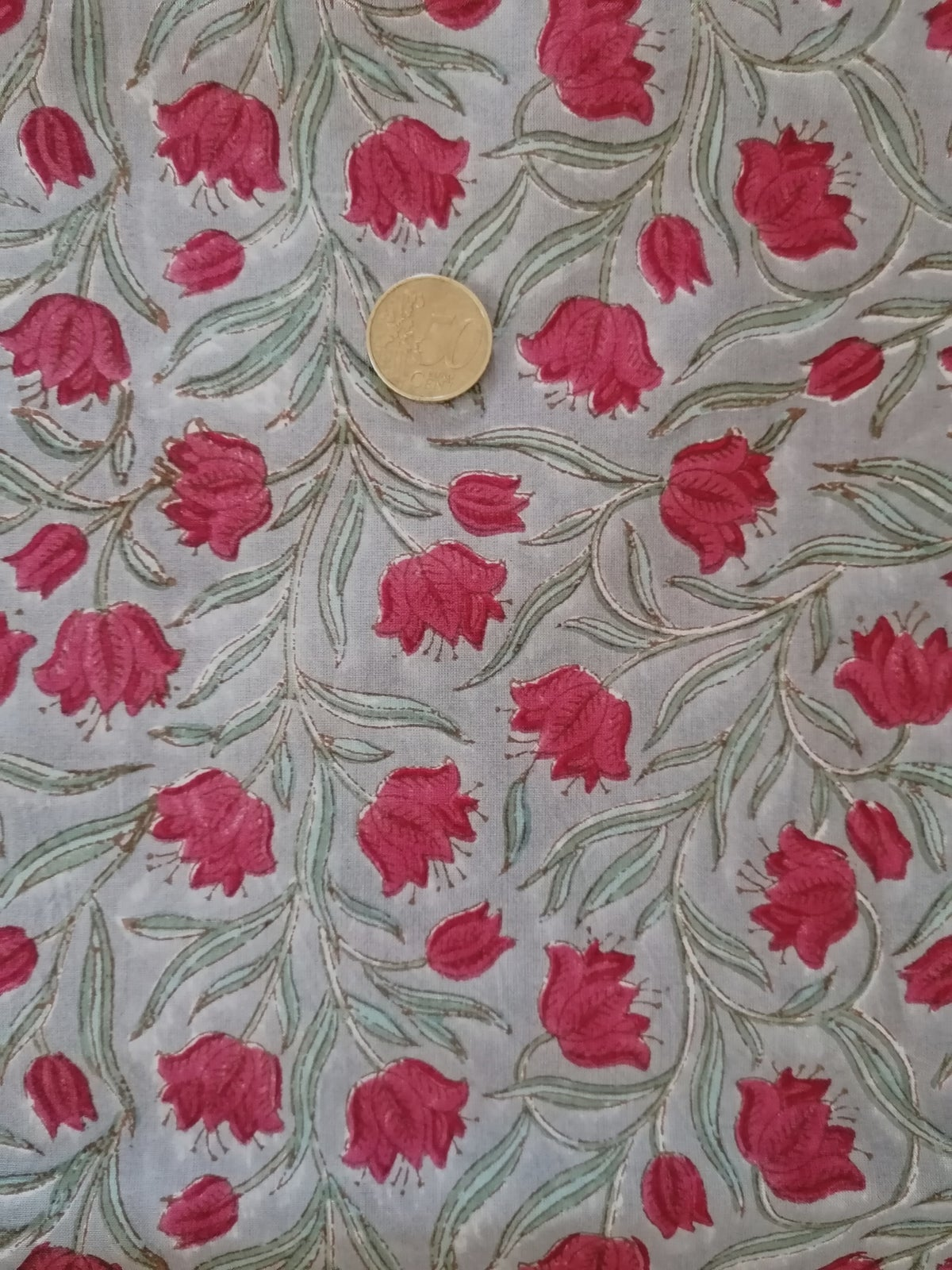 Image of Namasté fabric coquelicots rouge