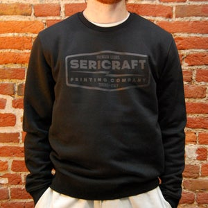 Image of SERICRAFT EMBLEM CREW - BLACK