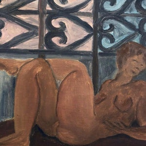 Image of Early 20thC, Paris School Painting of a Reclining Nude