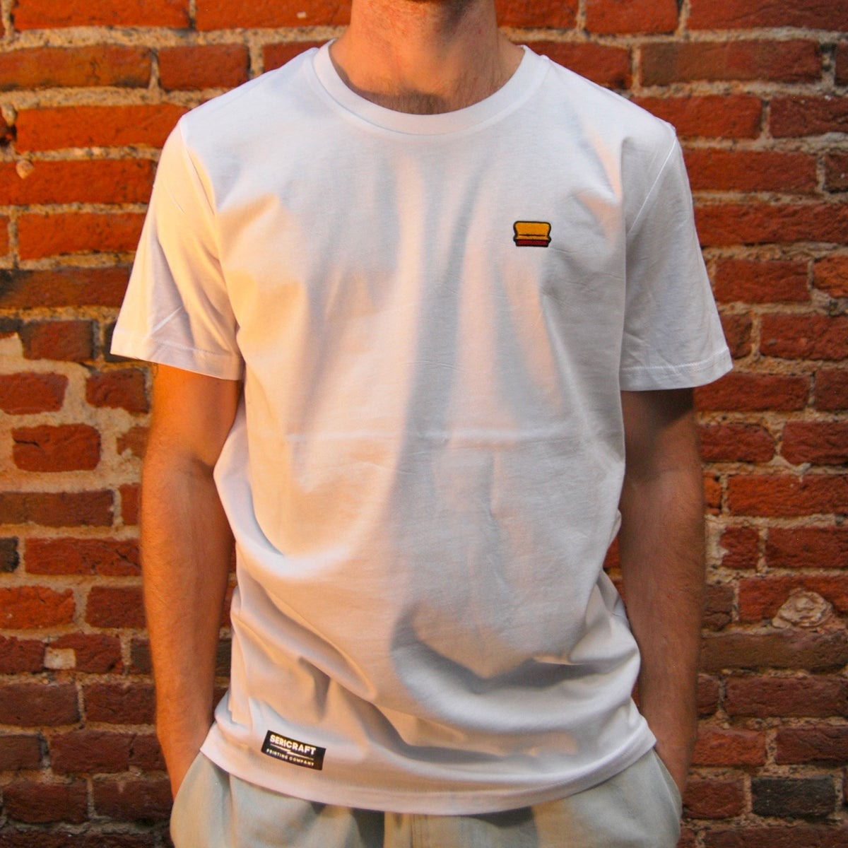Image of SERICRAFT ICONIC TEE - WHITE