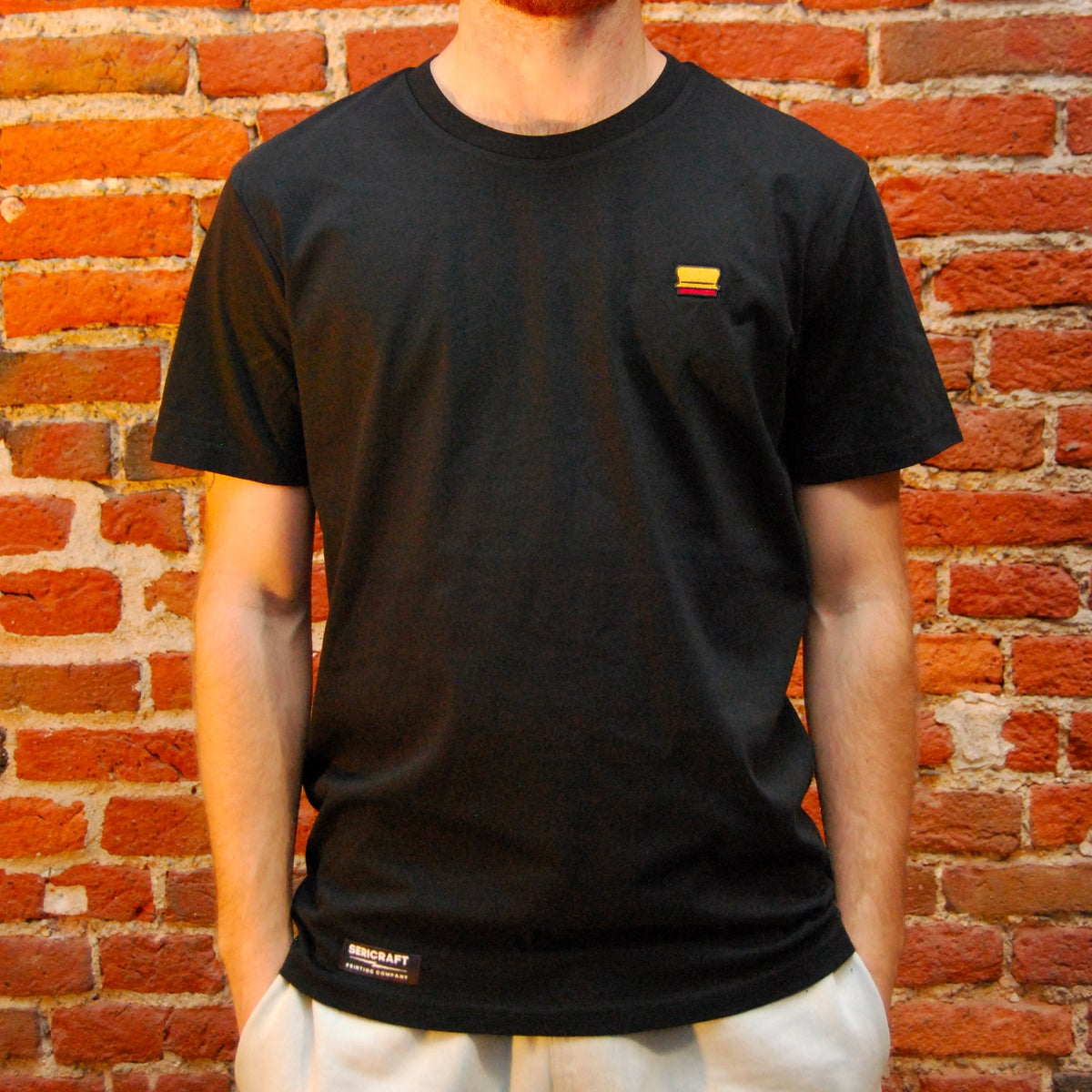 Image of SERICRAFT ICONIC TEE - BLACK