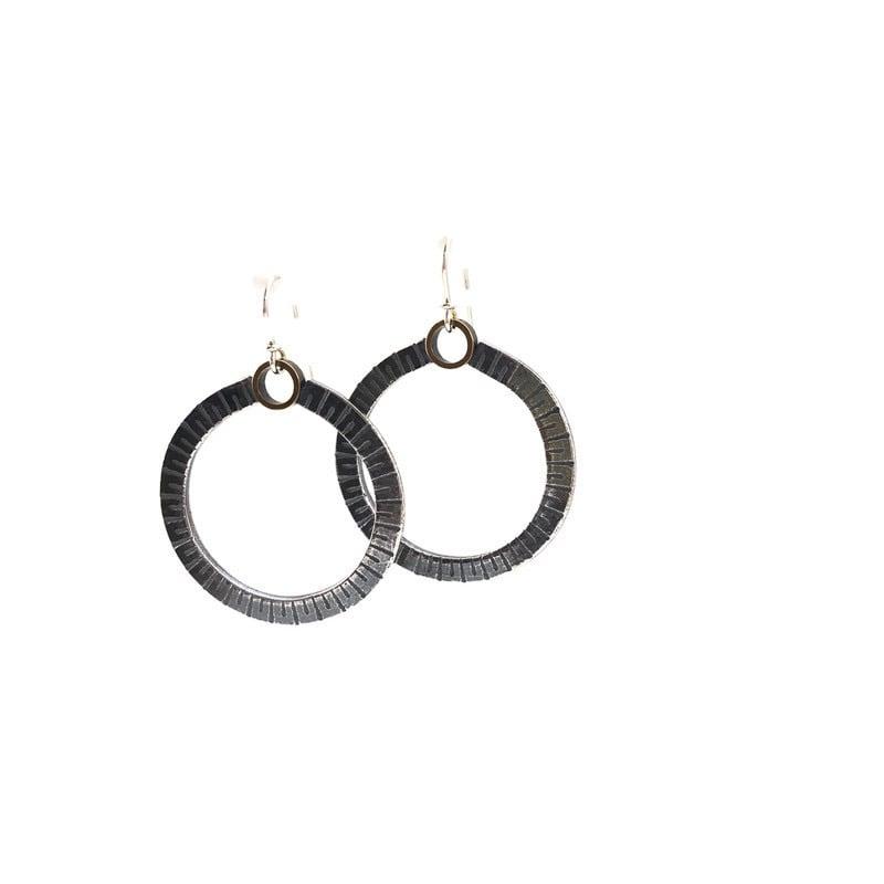 Image of round rule earrings
