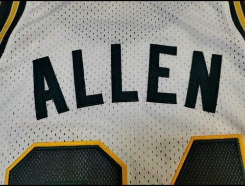 Image of Ray Allen super Sonics jerseys