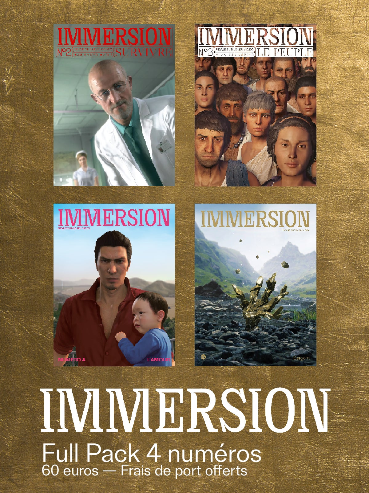 Image of IMMERSION - FULL PACK 4 NUMÉROS