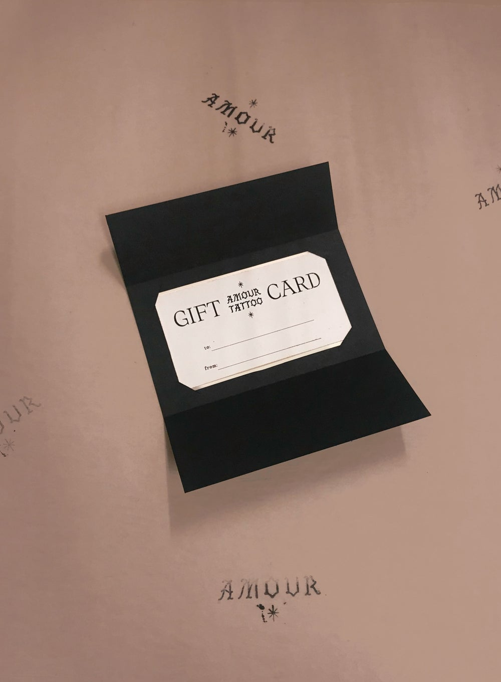 Image of Tattoo Gift Card - AMOUR