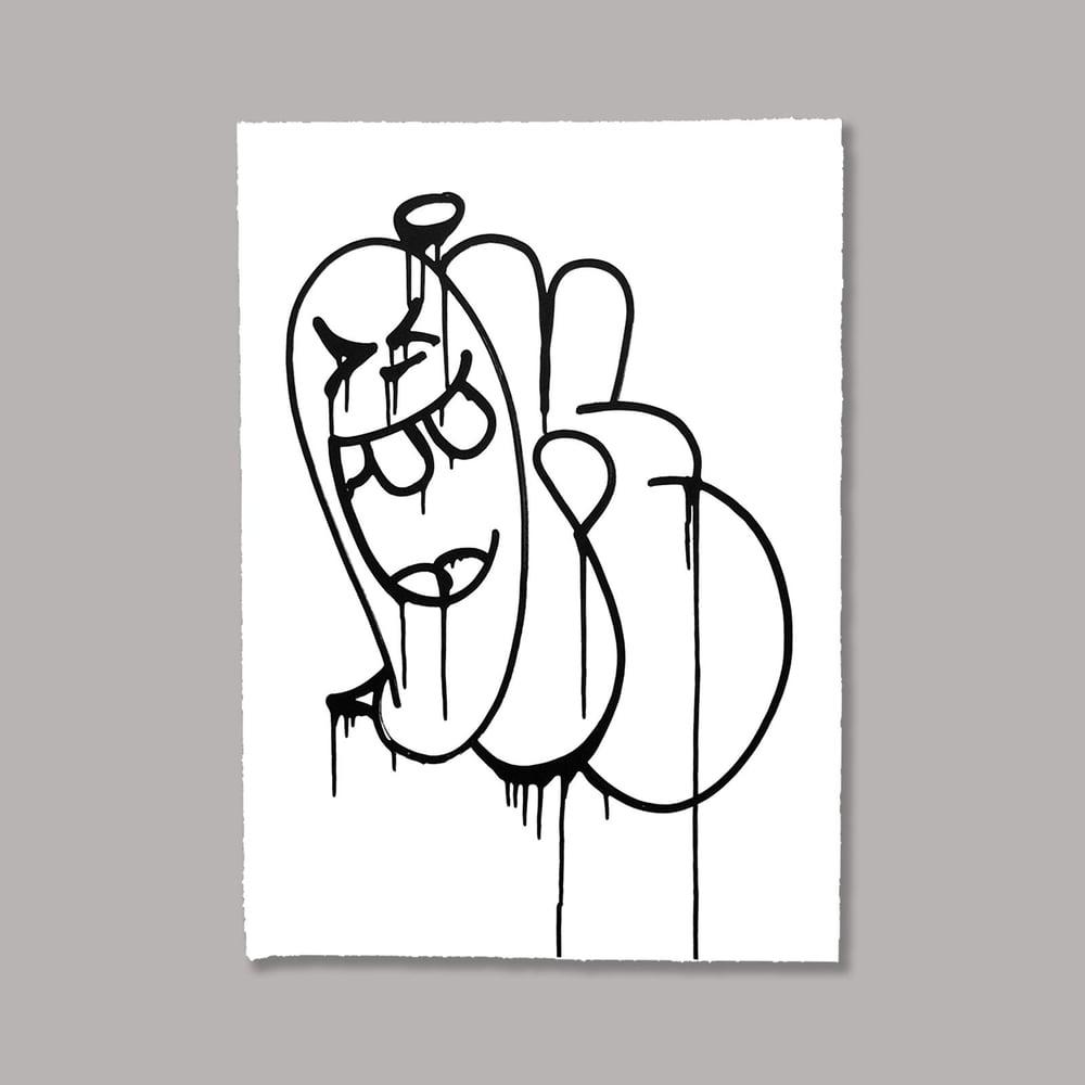 Image of Ok Black ink Print