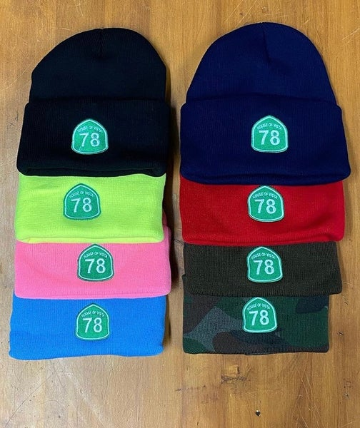Image of 78 embroidered beanies