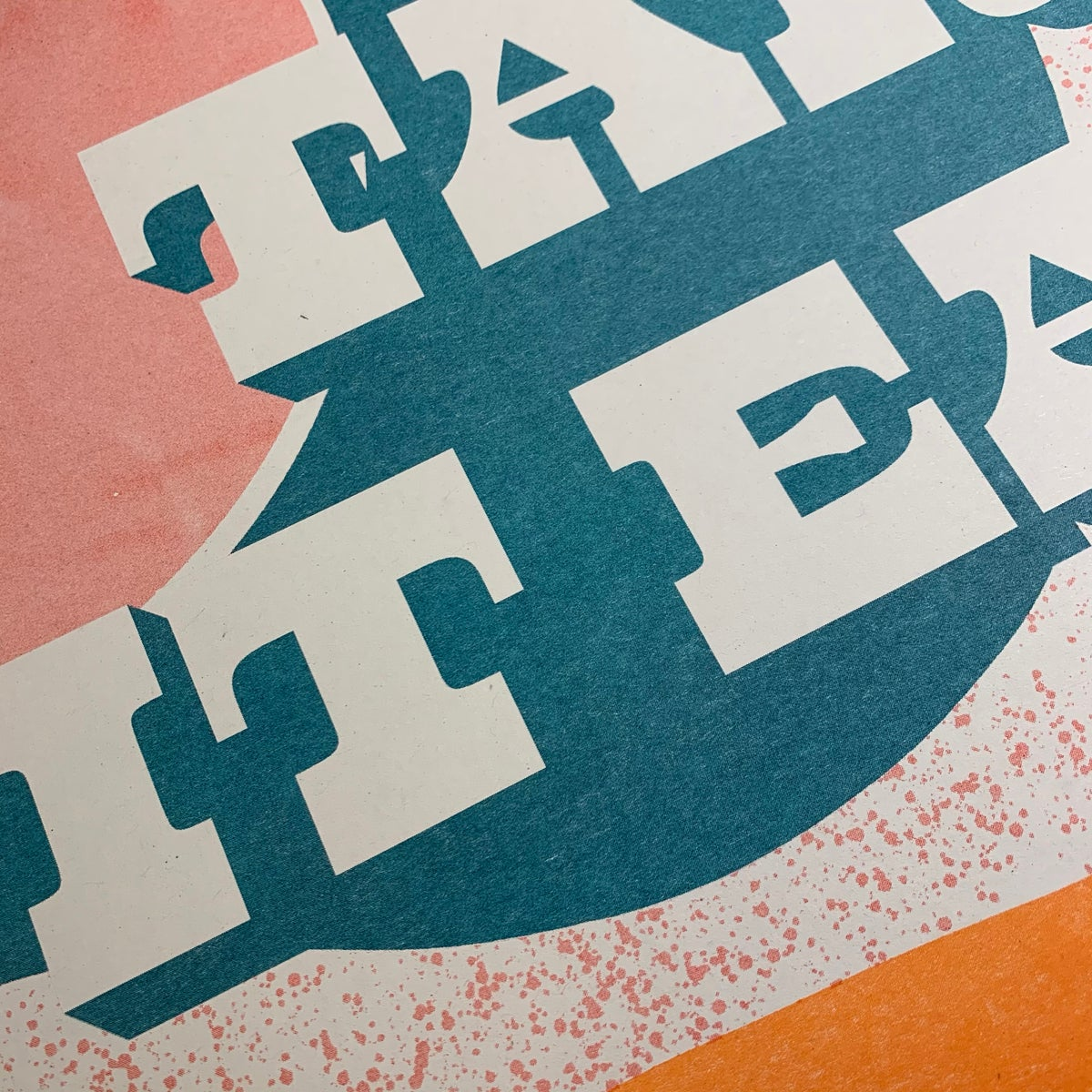 Image of 'Take It Easy' A3 Riso Collab Print