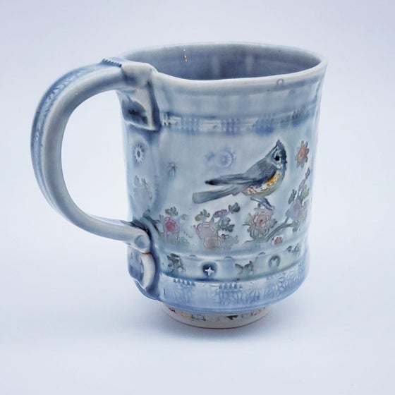 Image of Titmouse Garden Porcelain Mug