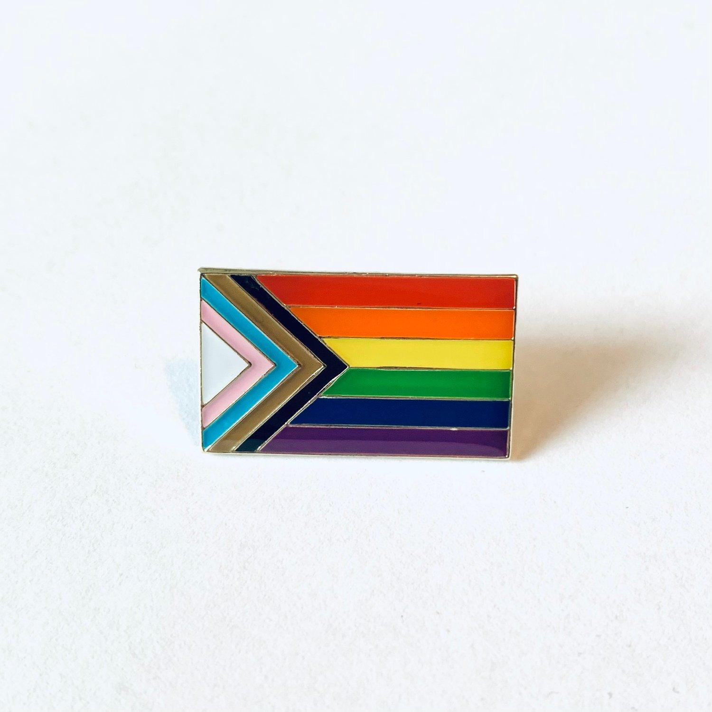 Image of Progressive Pride Flag Pin