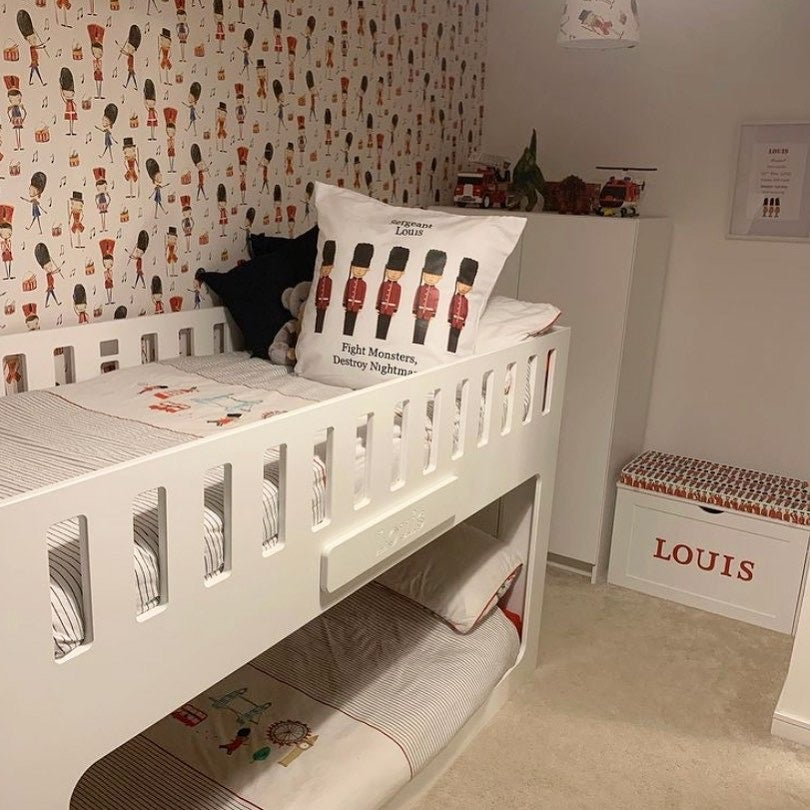 Image of Personalised Chest - Cushion Top - LONDON GUARD ***DELIVERY AFTER 1st OCTOBER***