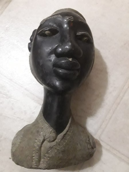 Image of Solid Stone Haitian Statue