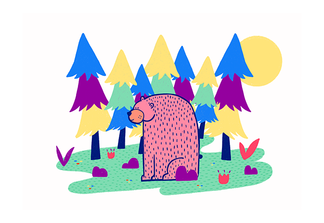 Image of Bear into the woods