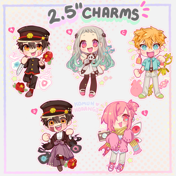 Image of Ghost Toilet-kun! 2.5 inch Charms