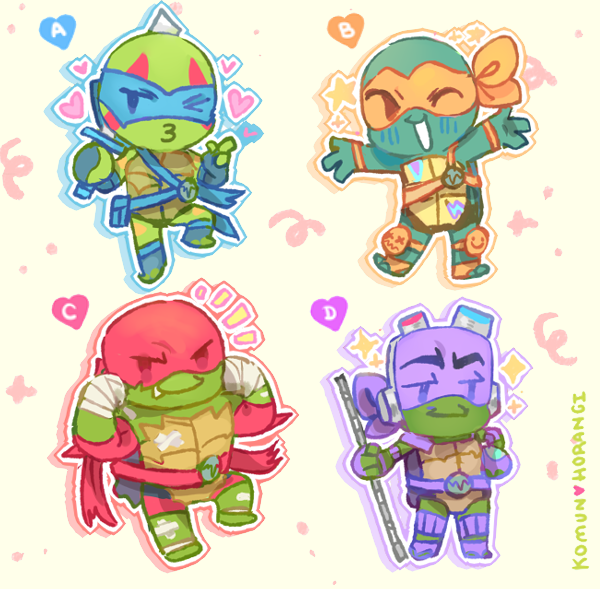 Image of Rise of the TMNT 3in Stickers