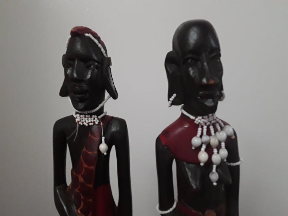 Image of Kenyan Masai Man and Woman