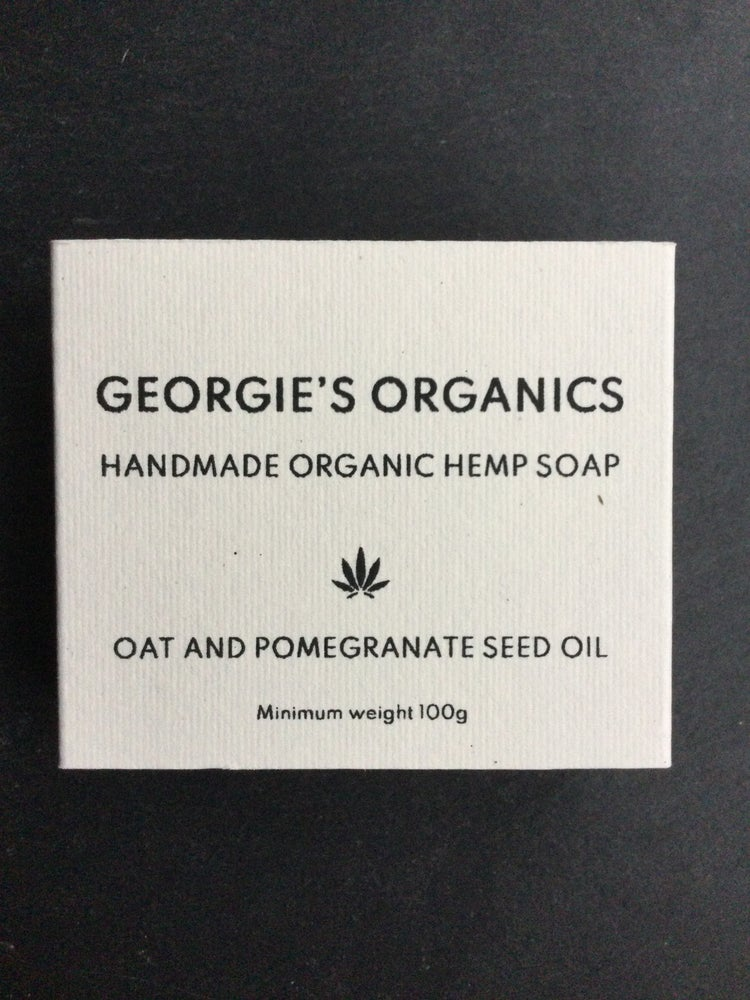 Image of Organic hemp soap. Oat and Pomegranate oil
