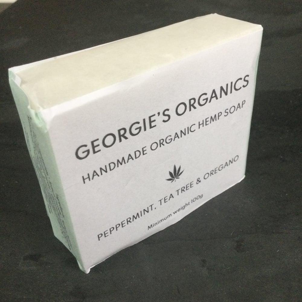 Image of Organic hemp soap. Peppermint, Tea tree & Oregano