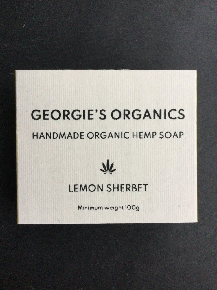 Image of Organic hemp soap. Lemon Sherbet
