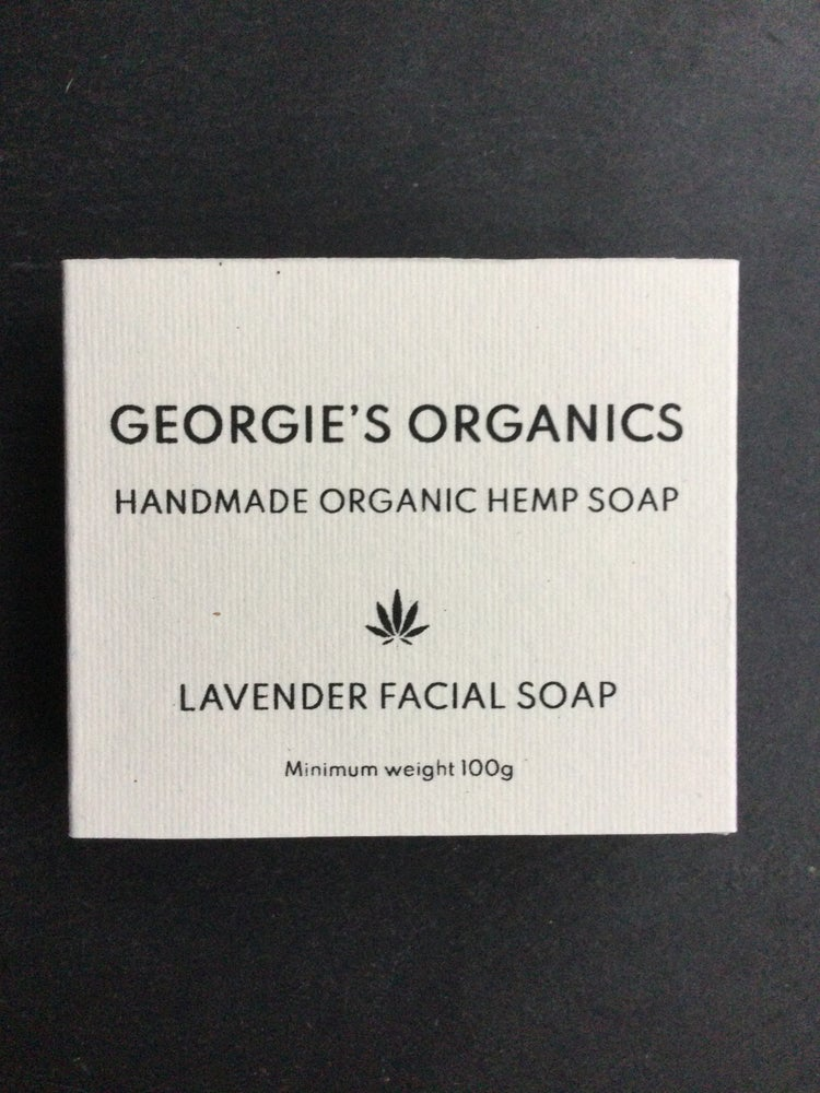 Image of Organic hemp soap. Lavender facial soap