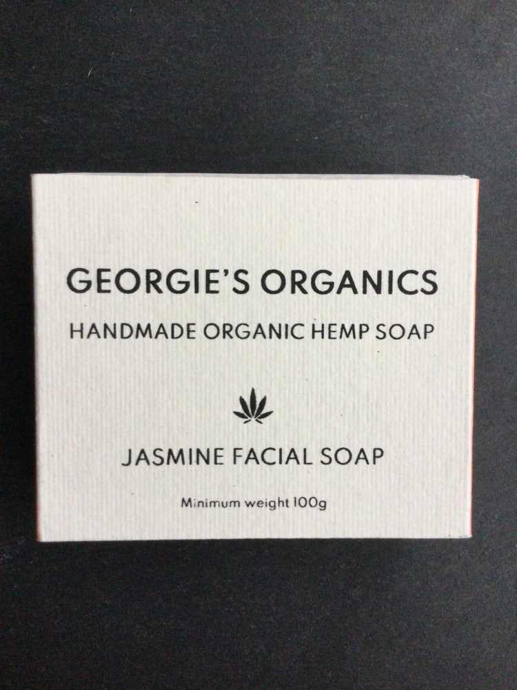 Image of Organic hemp soap. Jasmine facial soap