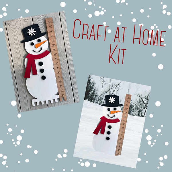 Image of Snowman Snow Measuring Stick - Craft at Home Kit