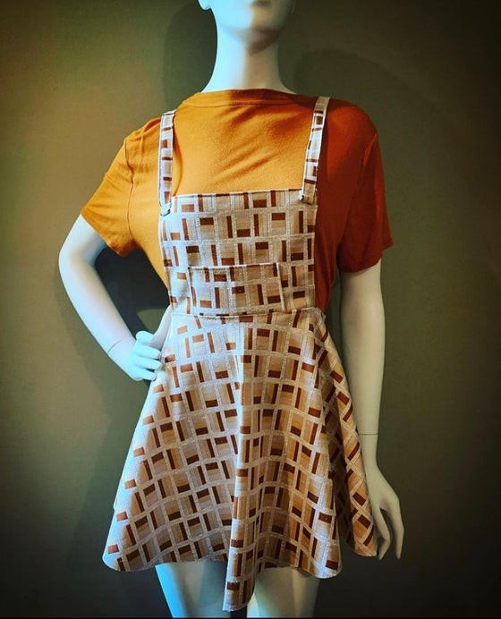 Image of 70's Poly Overall Skirt