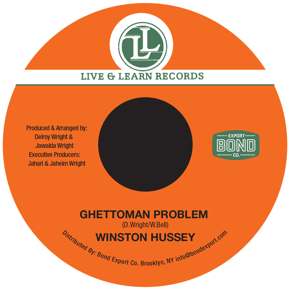 """Image of Winston Hussey - Ghettoman Problem 7"""" (Live & Learn)"""