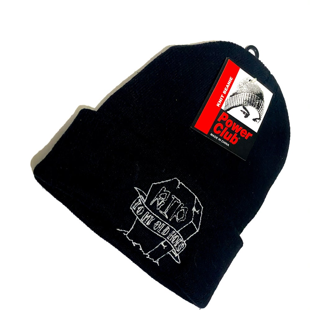Image of BLACK TOMBSTONE BEANIE