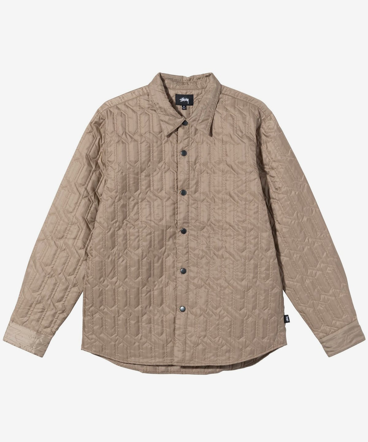 Image of STUSSY_QUILTED INSULATED SHIRT :::BEIGE:::