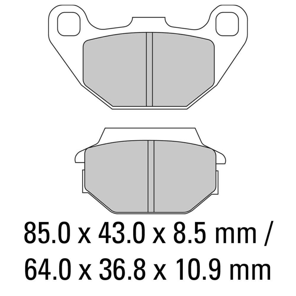 Image of FERODO Brake Disc Pad Set - FDB2096 EF