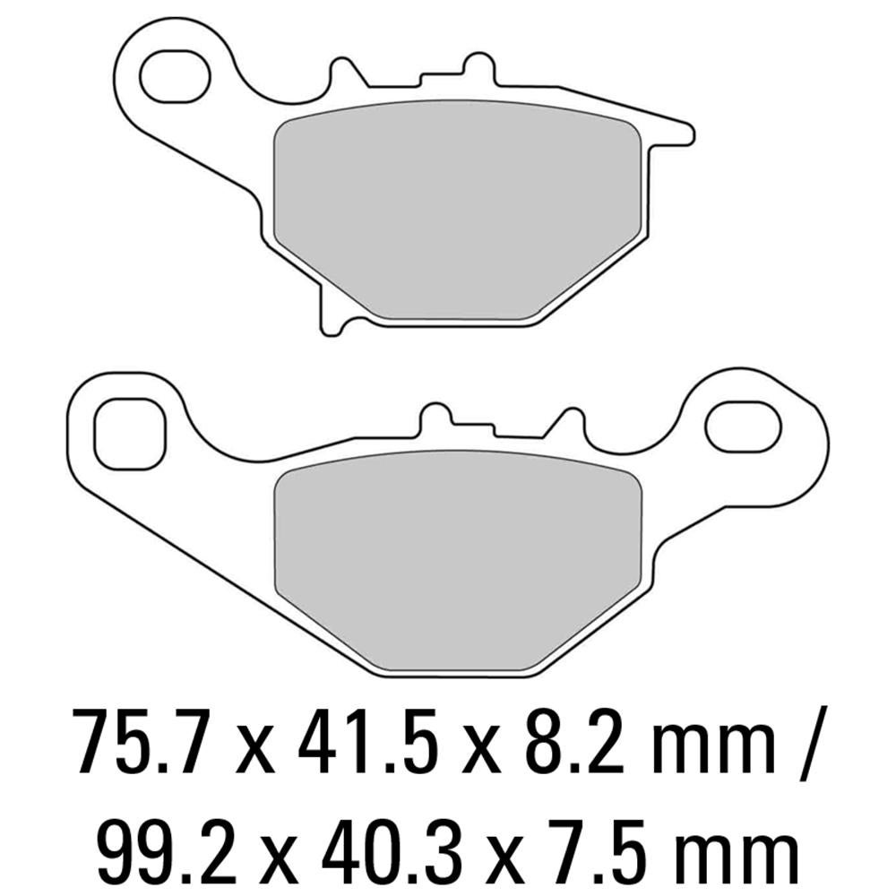 Image of FERODO Brake Disc Pad Set - FDB2133 EF