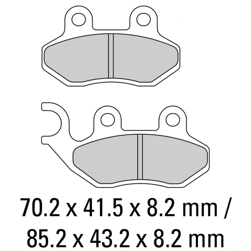 Image of FERODO Brake Disc Pad Set - FDB2190 EF
