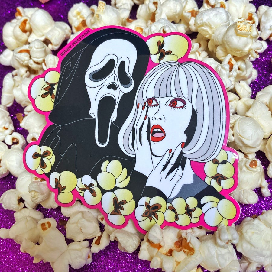 Image of I Only Eat Popcorn At The Movies Sticker